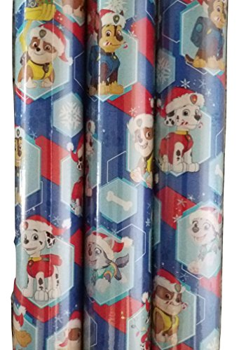 Paw Patrol Blue Theme Gift Wrapping Paper 20 sq ft. (1 Roll)