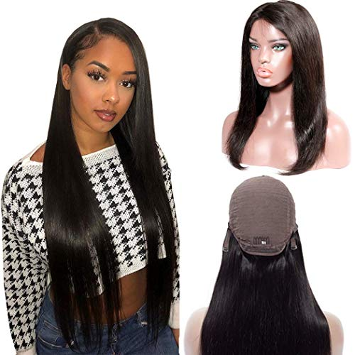 Straight Human Hair Wigs Lace Front Wigs 13×4 Silk Top Wig Glueless Pre Plucked With Baby Hair Amazon Wigs For Black Women Cheap Lace Wig 150 Density For Black Women (Amazon Wigs For Women)