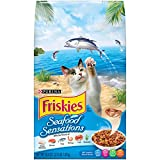Purina Friskies Seafood Sensations Adult Dry Cat Food – 3.15 lb. Bag For Sale