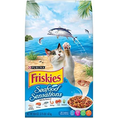 Purina Friskies Dry Cat Food; Seafood Sensations - 3.15 lb. Bag
