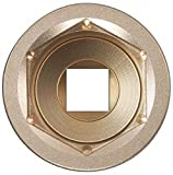 "1/4"" High Strength Nickel Aluminum Bronze Socket with 1/2"" Drive Size and Natural Finish -  AMPCO"