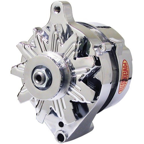Powermaster 17078 Chrome Alternator Ford 1G [ext. regulated] (1978 Ford Mustang Parts)