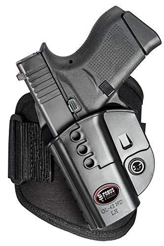 Fobus GL43NDALH Glock 43 Ankle Holster, Left Hand