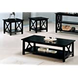 Coaster Briarcliff Casual Dark Merlot Three-Piece Occasional Table Set