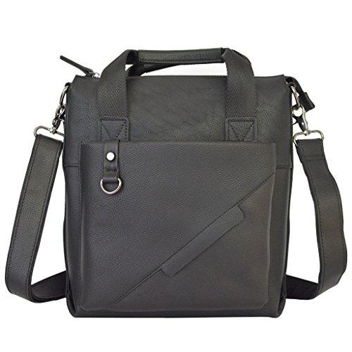 Sucastle Small Leather Man Bag, Backpack Genuine Leather Handbags, Shoulder And Chest, Shoulder Bags, Resistant Bag 33x30x10cm, # 1