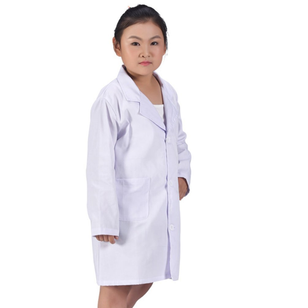 CalorMixs America Kids Unisex Doctor Lab Coat Doctor Role Play Costume Dress-Up (Large)