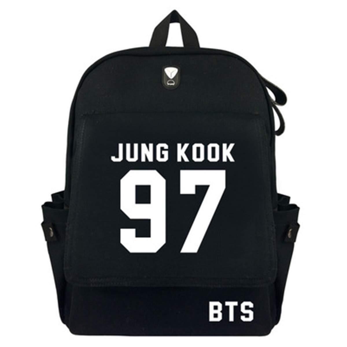 BeautyWJY Kpop BTS Backpack Korean Daypack Casual Laptop School Bag College Bag Book Bag 7#