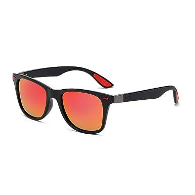 5976c43e864 AMZTM Classic Retro Sunglasses for Men Polarized TAC Mirror Lens TR 90 Square  Frame Glasses UV