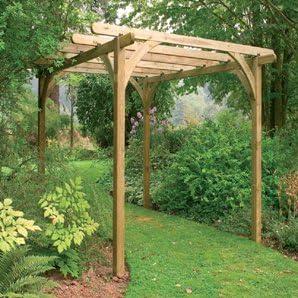 Diseño de bosque Garden Ultima Kit Pergola (2, 7 x 2, 7 m ...
