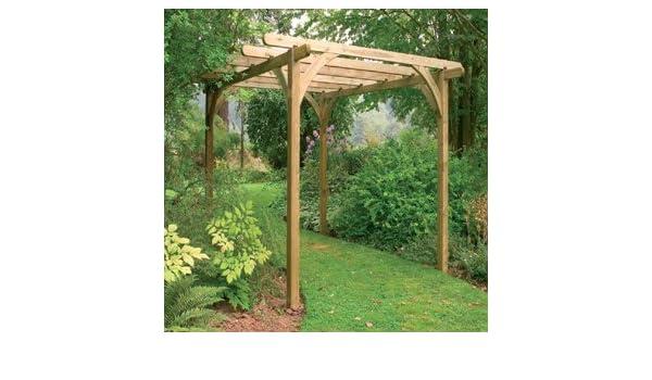 Diseño de bosque Garden Ultima Kit Pergola (2, 7 x 2, 7 m): Amazon.es: Jardín