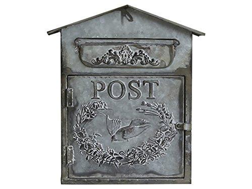 Chic Antique nostalgischer Briefkasten mit Dach Zink Antik-look Shabby Mailbox