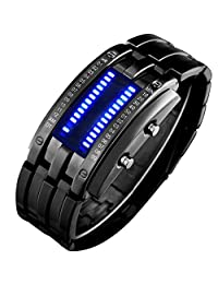 Skmei Men's LED Sports Watches Binary LED Technological Sense Water Resistant Wrist Watches