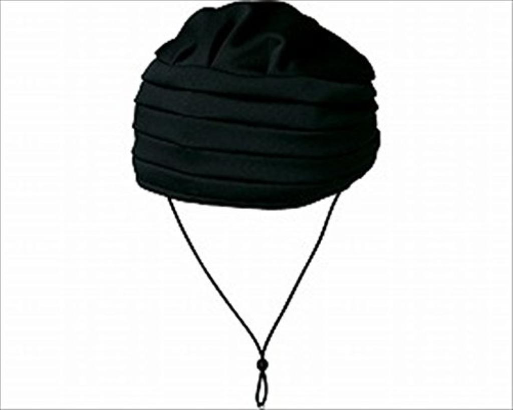(まとめ)キヨタ 保護帽 おでかけヘッドガードEタイプ(ターバンタイプ)M ブラック KM-1000E【×2セット】   B01HIB1FAC