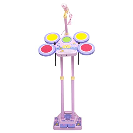 Amazon Com Kids Electronic Drum Set With Mp3 Function Perfect For