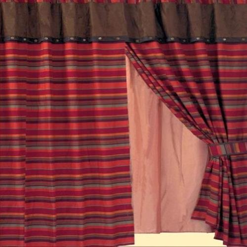 (Western Santa Fe Stripe Curtain Panel Set 60 x 84)