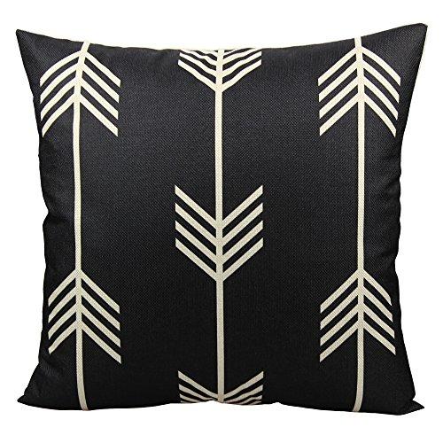 All Smiles Nordic Feather Arrow Throw Pillow Case Cushion Co