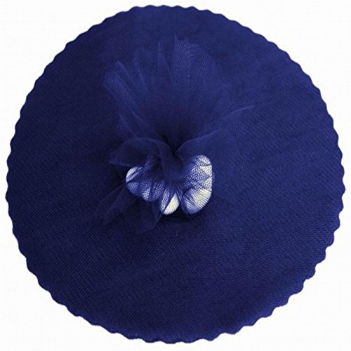 100 Navy Blue Scalloped Tulle Circles 9