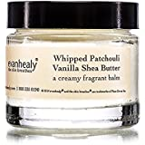 evanhealy Whipped Patchouli Vanilla Shea Butter, Creamy Fragrant Balm for Dry Irritated Skin with Ethically Sourced Shea Organic Vanilla and Aged Indonesian Patchouli, Cruelty Free Vegan, 1.5 Ounce