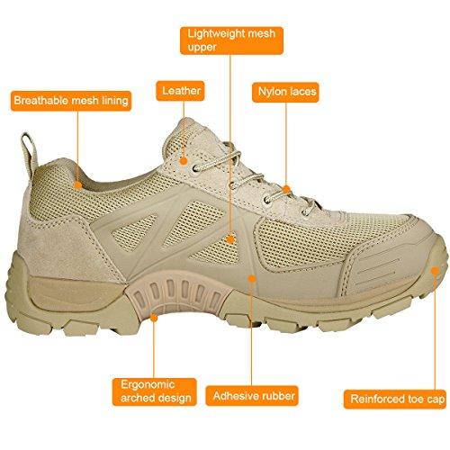 Libre Soldado Hombres al aire libre zapatos de senderismo bajo de la Wild botas de senderismo marrón
