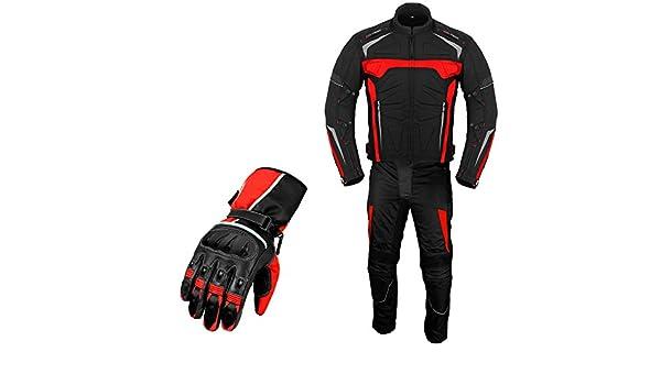Traje de moto Armor Suit con guantes a juego para ...