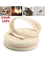 CoCocina 1 Inch Flat 15 Foot Cotton Wick For Oil Lamps and Lanterns 4.5M Length