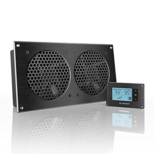 AC Infinity AIRPLATE T7, Quiet Cooling Fan System with Thermostat Control, for Home Theater AV Cabinets (Cabinet Fan Thermal Control compare prices)