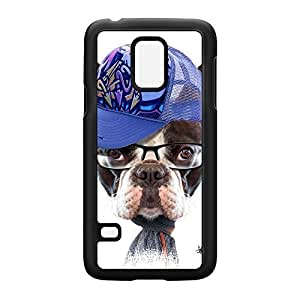 Dog with Cap 02 Black Hard Plastic Case for Samsung? Galaxy S5 Mini by Gangtoyz + FREE Crystal Clear Screen Protector