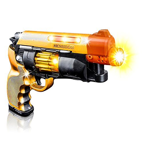 Gun Led (Blade Runner Airsoft Toy Pistol by ArtCreativity Toy Gun for Kids with LED and Sound Effects, Super Cool Design, Batteries Included, Sturdy Plastic Design, Great Gift Idea for Girl/Boy (1 Pistol))