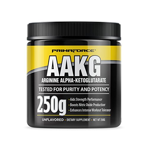 PrimaForce AAKG Powder Supplement,  250 Grams – Aids Strength Performance / Boosts Nitric Oxide Production / Enhances Intense Workout Tolerance