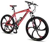 Merax Finiss 26' Aluminum 21 Speed Mg Alloy Wheel Mountain Bike with Disc Brakes (Stylish Black)