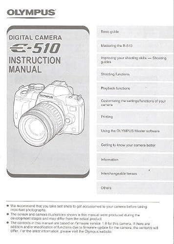 olympus e 510 digital camera original instruction manual rh amazon com whirlpool awz 510 e manual olympus 510e user manual