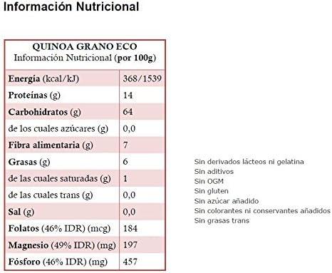 QUINOA grano ECO: (1 kg) XXL pack: Amazon.es: Salud y cuidado ...