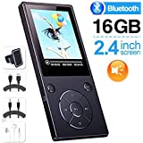 DeeFec 16GB Bluetooth4.1 MP3 Music Player Built-in Speaker with 2.4inch HD Screen