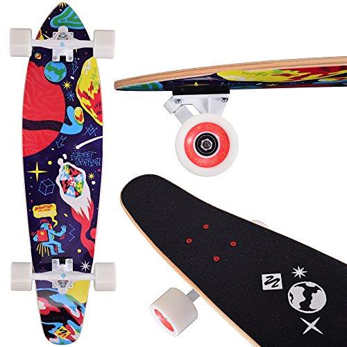 Street Surfing Kick Tail Longboard, 36″, Space