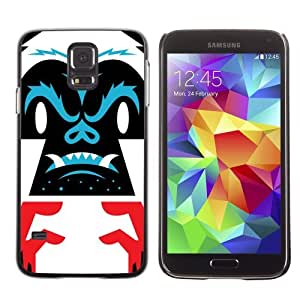 Licase Hard Protective Case Skin Cover for Samsung Galaxy S5 - Cool Gorilla Illustration