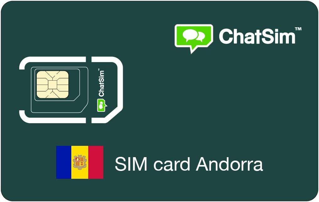 Tarjeta SIM internacional para viajes a ANDORRA y en todo el mundo – ChatSim – cobertura 165 Países, roaming global – red multioperador GSM/2G/3G/4G, sin costes fijos: Amazon.es: Electrónica