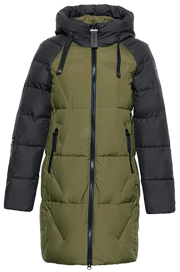 ICEbea Women's Thickened Down Jacket Hooded Mid-Length ICEbear 17G637D