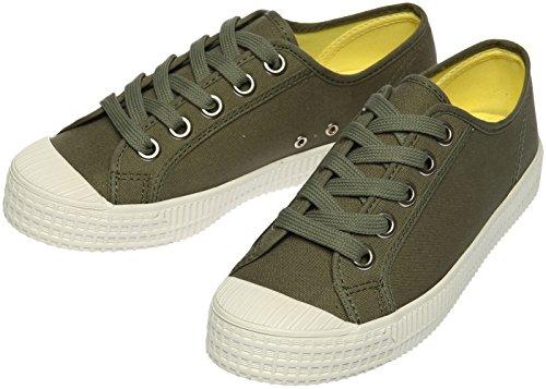 Paperplanes-1350 Donne Casual Basse Scarpe Basse Sneakers In Tela Scarpe 1350-kaki
