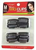 12 pcs Wig Clips Snap Comb 1 1/4