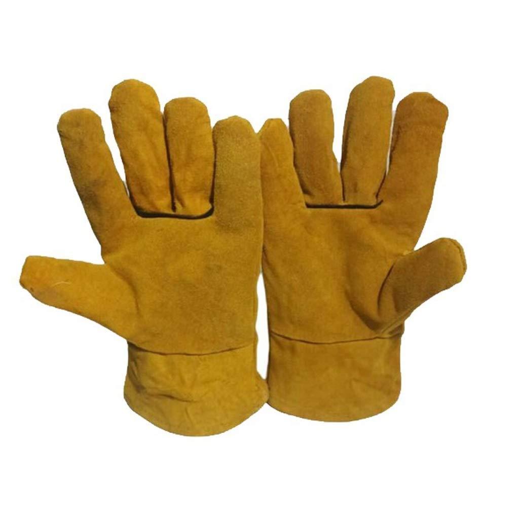 XXHDYR Guanti protettivi Caldi e Freddi addensati Guanti Impermeabili Speciali in Cotone a Bassa Temperatura, antigelo e Freddo, 2 Paia e 5 Paia Guanti (colore   giallo×2)