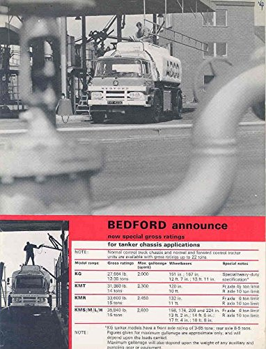1967 Bedford Gas Milk Tank Truck Brochure ABCO Gulf BP