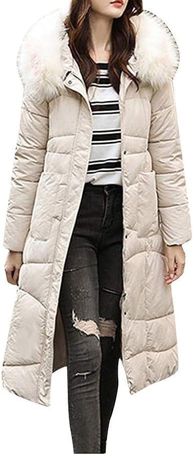 ZOELOVE Invierno Chaqueta Larga Abrigo de algodón Caliente ...