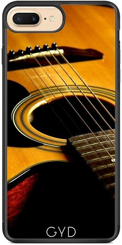Funda Carcasa Cubierta de PU Cuero para Iphone 6/6S - Guitarra by J McCool Silicona