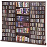 CD Rack - 1500 Veneer (Walnut) (63 3/4H x 65 5/6W x 9 1/2D)