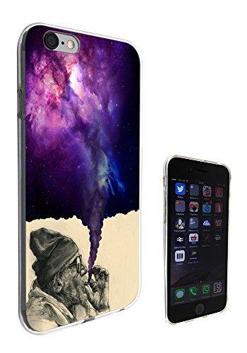 003032 - Old Hobo Smoking Weed Tornado Galaxy Design iphone 6 6S 4.7'' Fashion Trend Silikon Hülle Schutzhülle Schutzcase Gel Rubber Silicone Hülle