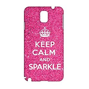 Cool-benz Pink simple motto calm down 3D Phone Case for Samsung Galaxy Note3