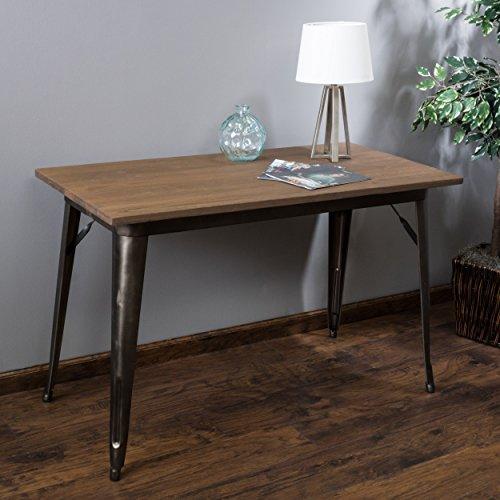 Low Fold Away Coffee Table: Titus Mocha Brown Folding Elm Wood Table