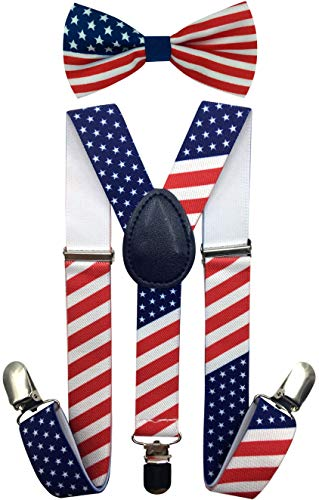 CD Kids, Toddlers Suspender and Bow Tie Set, Adjustable Set and Colors for Boys and Girls (US ()