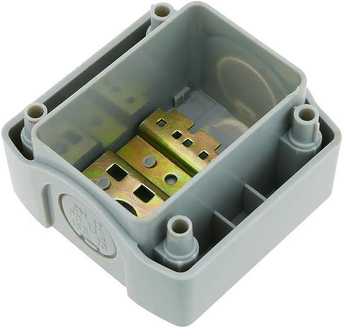 Caja de Control de Dispositivos el/éctricos para 2 pulsadores o interruptores de 22 mm Gris h=80mm BeMatik