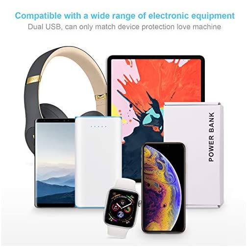 20000mAh Portable Power Bank 2 USB Ports Mobile Charger External Battery with Flashlight for iPhone 8X 8s 7 Plus 6s 6… |